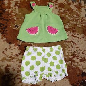 Newborn Carter's summer outfit